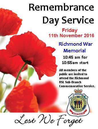 Remembrance Day 2016